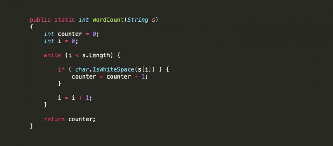 WordCount Function C#